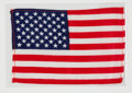 Explorers, Apollo 16 Lunar Module Flown American Flag Directly from the John W. Young Collection, with Letter of Certification. ...