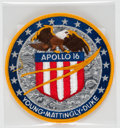 Explorers:Space Exploration, Apollo 16 Flown Embroidered Lion Brothers Mission Insignia Patch Directly from the John W. Young Collection, with Letter of Ce...