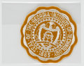 Explorers:Space Exploration, Apollo 16 Flown Georgia Institute of Technology Embroidered Patch Directly from the John W. Young Collection, with Letter ...