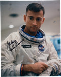 Explorers:Space Exploration, John Young Signed Gemini White Spacesuit Color Photo Directly the John W. Young Collection. ...