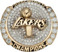 Basketball Collectibles:Others, 2009 Los Angeles Lakers NBA Championship Ring Presented to CenterDJ Mbenga....