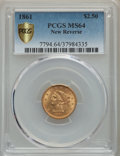 1861 $2 1/2 New Reverse, Type Two, MS64 PCGS Secure. PCGS Population: (103/50 and 7/2+). NGC Census: (126/26 and 3/1+)...