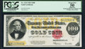 Large Size:Gold Certificates, Fr. 1215 $100 1922 Gold Certificate PCGS Apparent About New 50.. ...