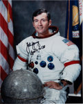 Explorers:Space Exploration, John Young Signed White Spacesuit Color Photo Directly from the John W. Young Collection. ...