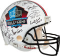Football Collectibles:Helmets, Pro Football Hall of Famers Multi-Signed Authentic Full Sized Helmet....