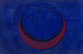 Fine Art - Painting, American, Seymour Fogel (American, 1911-1984). Untitled (RedCrescent). Sand and acrylic on board. 20 x 30 inches (50.8 x76.2 cm)...