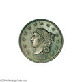 Proof Large Cents: , 1834 1C Large Date, Large Stars, Large Letters. PR63 Brown NGC.PR60+ EAC....