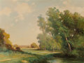 Fine Art - Painting, American, Robert William Wood (American, 1889-1979). Spring's Field.Oil on canvas. 30 x 40 inches (76.2 x 101.6 cm). Signed lower...