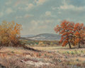 Fine Art - Painting, American, William Robert Thrasher (American, 1908-1997). Autumn Hills.Oil on canvas. 16 x 20 inches (40.6 x 50.8 cm). Signed lowe...
