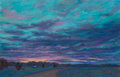 Fine Art - Work on Paper, Michael Etie (American, b. 1948). Sundown on the Ranch.Pastel on paper. 14 x 21-3/4 inches (35.6 x ...
