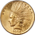 Indian Eagles, 1914 $10 MS64+ PCGS....