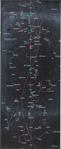 "Explorers:Space Exploration, Apollo 11 Training-Used ""CSM - Mission Star Chart"" Directly from the John W. Young Collection, with Letter of Certification. ..."