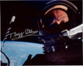 "Explorers:Space Exploration, Gemini 12: Buzz Aldrin Signed ""First Selfie in Space"" Color Photo. ..."