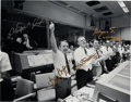 Explorers:Space Exploration, Apollo 13 Large Mission Control Photo Signed by Gene Kranz, Chris Kraft, Gerry Griffin, and Glynn Lunney. ...