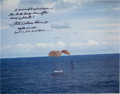 Explorers:Space Exploration, Fred Haise Signed Large Apollo 13 Splashdown Color Photo. ...