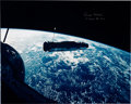 Explorers:Space Exploration, Michael Collins Signed Large Gemini 10 Agena Target Vehicle Color Photo. ...