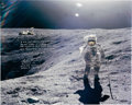 Explorers:Space Exploration, Charlie Duke Signed Large Apollo 16 Lunar Surface Color Photo with Added Kipling Quote and Photographic Provenance. ...