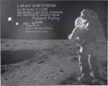Explorers:Space Exploration, Edgar Mitchell Signed Large Apollo 14 Lunar Surface Photo, with JSA Authentication. ...