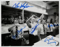 Explorers:Space Exploration, Apollo 13 Mission Control Flag Waving Celebration Photo Signed by Griffin, Kraft, Kranz, Lunney, and Windler. ...