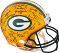 Football Collectibles:Helmets, Green Bay Packers Super Bowl I and II Greats Multi-Signed Full Sized Authentic Helmet....