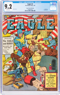 The Eagle #4 Mile High Pedigree (Fox, 1942) CGC NM- 9.2 White pages