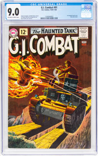 G.I. Combat #91 (DC, 1961) CGC VF/NM 9.0 Off-white to white pages