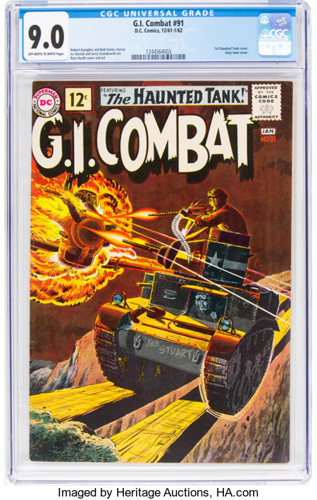 G.I. Combat #91 (DC, 1961) CGC VF/NM 9.0 Off-white to white pages....