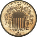 Shield Nickels, 1873 5C Closed 3 MS65+ PCGS. CAC....