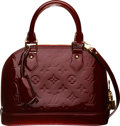 """Luxury Accessories:Bags, Louis Vuitton Red Monogram Vernis Leather Alma BB Bag. Condition: 1. 9"""" Width x 6.5"""" Height x 4.5"""" Depth. ..."""