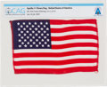 Explorers:Space Exploration, Apollo 11 Flown American Flag Directly From The Armstrong Family Collection™, CAG Certified....