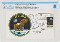 """Apollo 11 Crew-Signed """"Type Three"""" Insurance Cover Directly From The Armstrong Family Collection™, CAG Certifi..."""