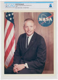 Explorers:Space Exploration, Neil Armstrong Original NASA Business Suit Pose Color Photograph Directly From The Armstrong Family Collection™, CAG Certified...