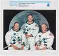 Explorers:Space Exploration, Apollo 11 Crew Autopen-Signed White Spacesuit Color Photo Directly From The Armstrong Family Collection™, CAG Certified....