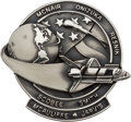 Explorers:Space Exploration, Space Shuttle Challenger (STS-51-L) Unflown Silver Robbins Medallion, Serial Number 120, Directly from the Family ...