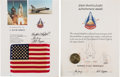 Explorers:Space Exploration, Space Shuttle Columbia (STS-1) Flown American Flag on Presentation Certificate [and] STS-1 Manned Flight Awareness...