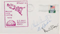 Explorers:Space Exploration, Apollo 12 Crew-Signed USS Hornet Recovery Cover. ...