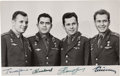 Explorers:Space Exploration, Vostok 1 through Vostok 4: Photo Signed by the First Four Cosmonauts in Space- Gagarin, Titov, Nikolayev, and Popovich. ...