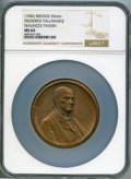 Medals and Tokens, 1906 Frederick Tallmadge, Fraunces Tavern, MS64 NGC. Smedley-66. Bronze, 65 mm. Dies by Victor D. Brenner....