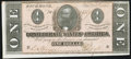 Confederate Notes:1864 Issues, T71 $1 1864 About Uncirculated.. ...