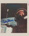 """Explorers:Space Exploration, Gemini 12: Buzz Aldrin Signed """"First Selfie in Space"""" NASA Original """"Red Number"""" Color Photo. ..."""
