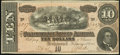 Confederate Notes:1864 Issues, T68 $10 1864 Choice About Uncirculated.. ...