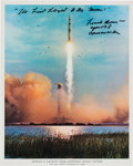 Explorers:Space Exploration, Frank Borman Signed Apollo 8 Launch Color Photo. ...