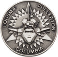 Explorers:Space Exploration, Space Shuttle Columbia (STS-3) Flown Silver Robbins Medallion, Serial Number 16F, Directly from the Family Collect...