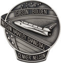 Explorers:Space Exploration, Space Shuttle Columbia (STS-61-C) Flown Silver Robbins Medallion, Serial Number 47F, Directly from the Family Coll...