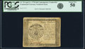 Colonial Notes:Continental Congress Issues, Continental Currency April 11, 1778 $40 Contemporary CounterfeitPCGS About New 50.. ...
