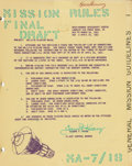 "Explorers:Space Exploration, Mercury-Atlas 7 Aurora 7: NASA Complete Original ""Mission Rules"" in Binder. ..."