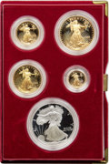 Five-Piece 1995-W $1 10th Anniversary Silver Eagle and Gold Proof Set