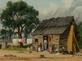 Paintings, William Aiken Walker (American, 1838-1921). A South Carolina Cabin. Oil on board. 9 x 12 inches (22.9 x 30.5 cm). Signed...