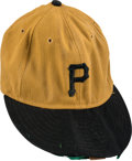Baseball Collectibles:Uniforms, 1971 Danny Murtaugh World Series Game Worn Pittsburgh Pirates Cap with Team Letter....