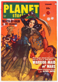 Pulps:Science Fiction, Planet Stories V4#7 Yakima Pedigree (Fiction House, 1950) Condition: VF-....